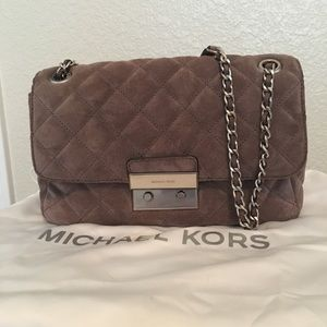"Gray Suede ""Chanel-Style"" handbag by Michael Kors"